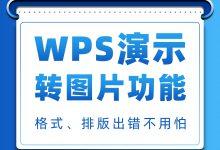 工作汇报时,WPS演示的格式、排版出错怎么办?一个转图片功能轻松解决!